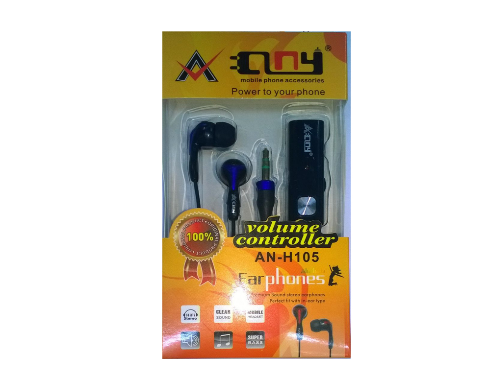 49.44 % OFF ANY AN-H105 VOLUME CONTROLLER EARPHONES